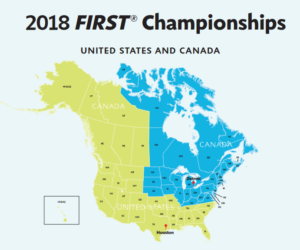 FIRST championship map 2018