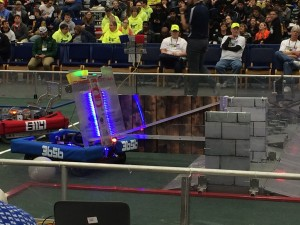 our robot opening the Sally Port defense