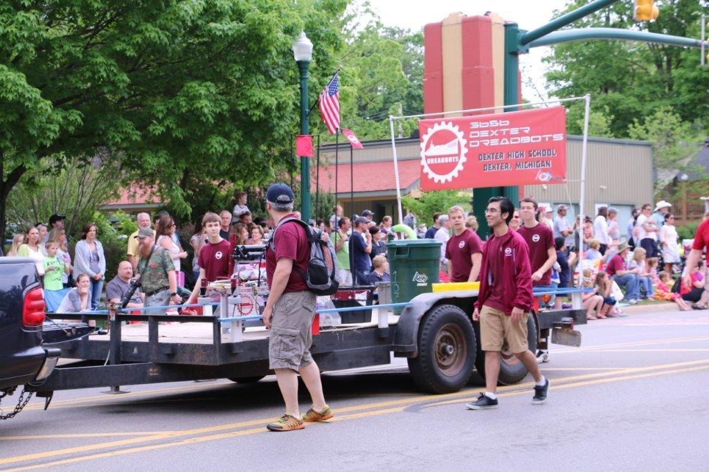 Dreadbots in Memorial Day parade 2015