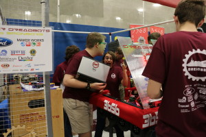 programming the robot in the pit