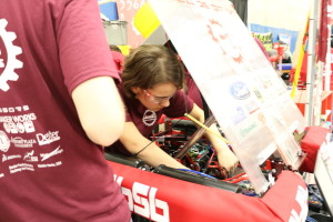 Sierra makes repairs to robot