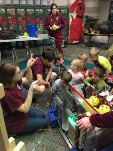 Cornerstone students exploring a robot