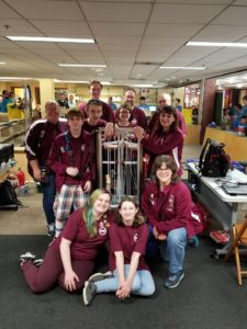Group photo with our robot