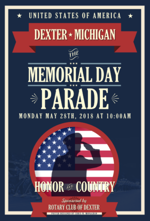 Memorial Day parade logo